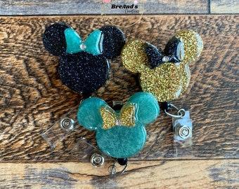 Minnie inspired Badge Reels, Badge Holders, office, accessories, lanyards