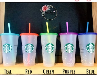 NEW Limited Edition Summer 2021 Starbucks Color Changing Cold Cup, Confetti Color Changing, Venti, Harry Potter, includes clear coat