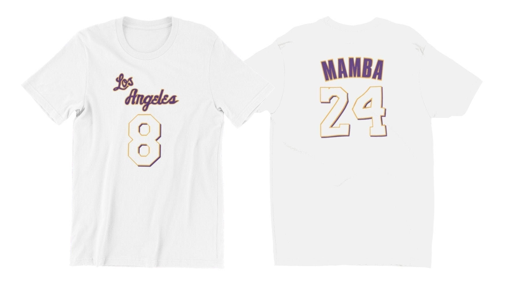 Kobe Bryant Jersey Shirt Mamba Edition 8 on front/24 on | Etsy