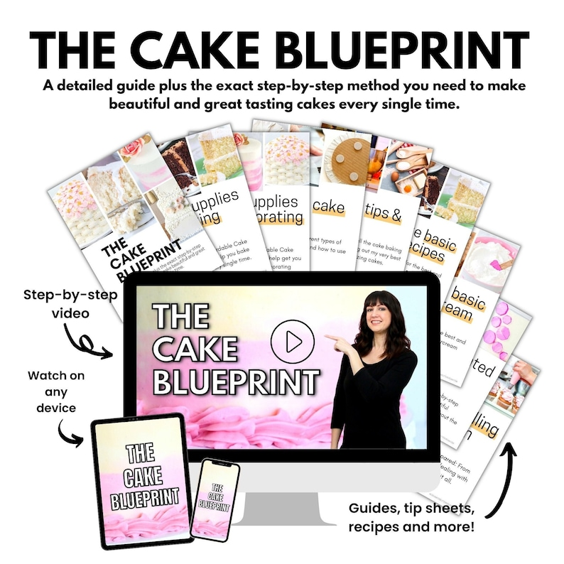 The Cake Blueprint Ebook and Video Cake Decorating Ebook image 1