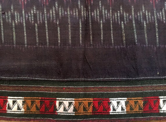 Thai Mudmee Ikat Sarong Cotton Silk Handwoven Thai