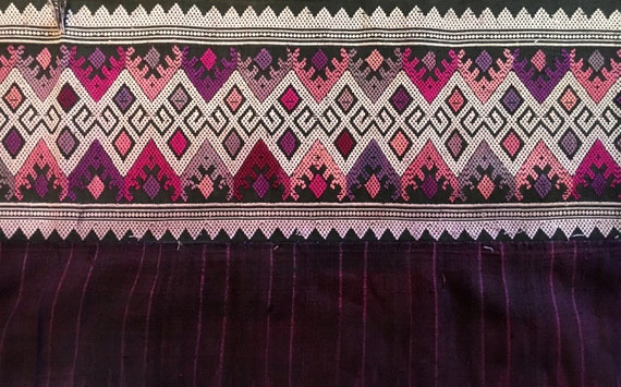 South East Asia Mudmee Ikat Thai Sarong Cotton Sil