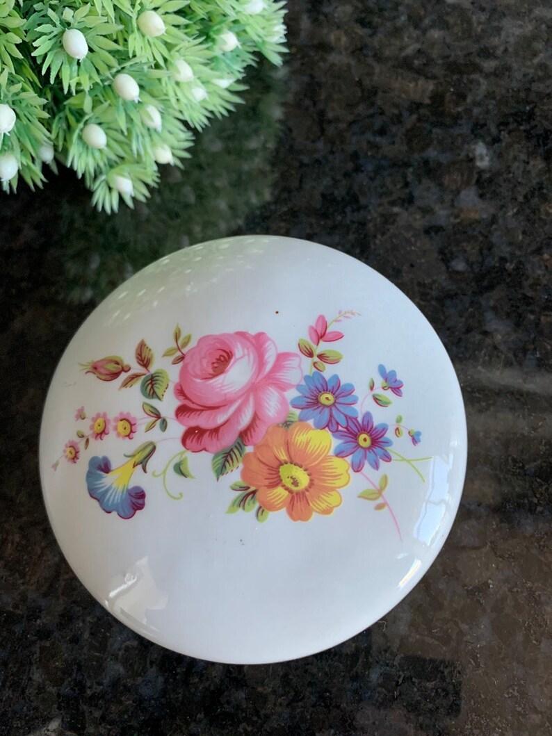 Hand Painted Porcelain Bone China Aquincum Trinket Jewelry Box Budapest Hungary