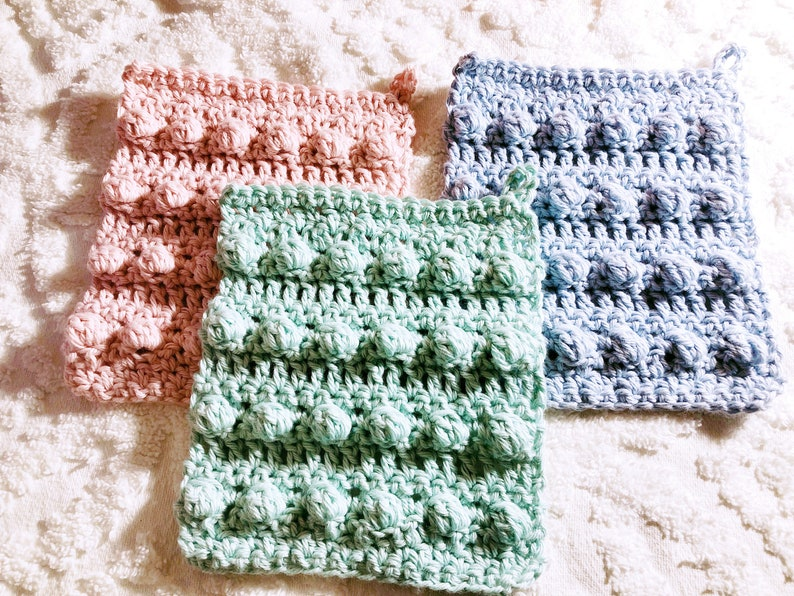 Spa TIme Washcloth  Crochet Pattern image 0