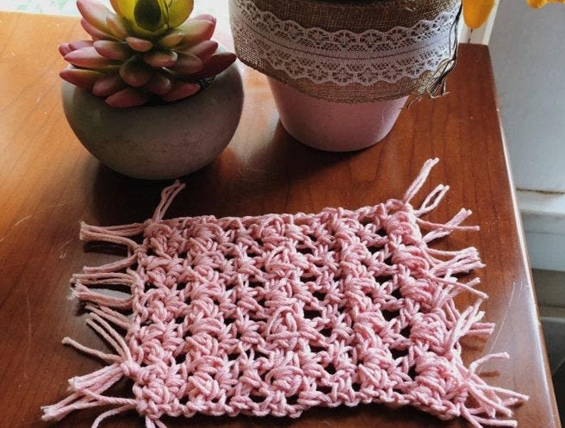 The Nicolette Mug Rug Crochet Pattern image 0