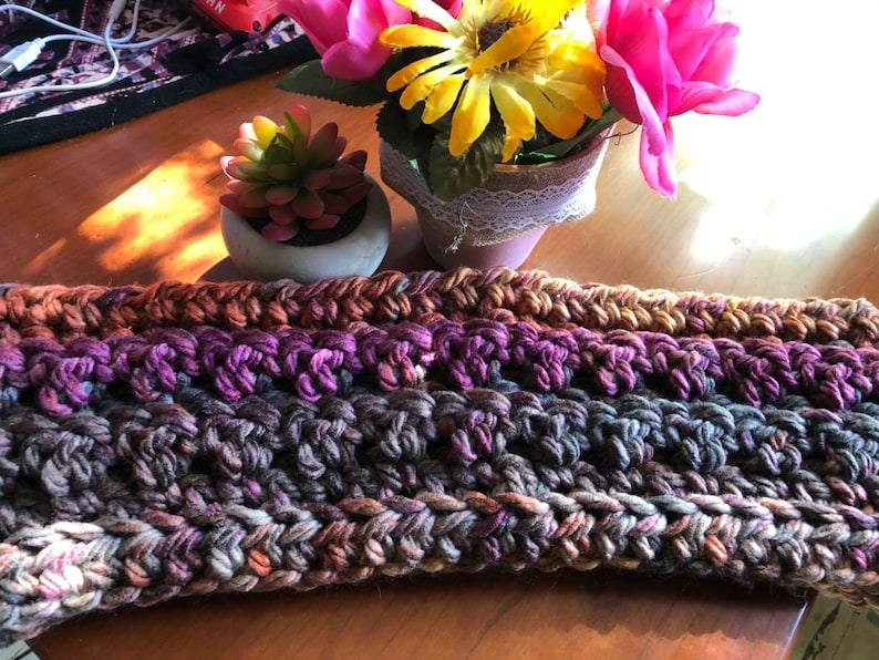 Crochet Pattern  Chunky Cozy Cowl scarf. PDF download ONLY image 0