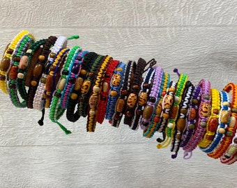 Friendship Bracelets Handmade Lucky Handwoven Mexican Colorful Summer Bracelets Best Memories