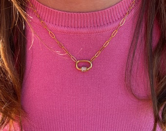 Paperclip Chain Link Necklace - 15 inches with a 2 inch extender