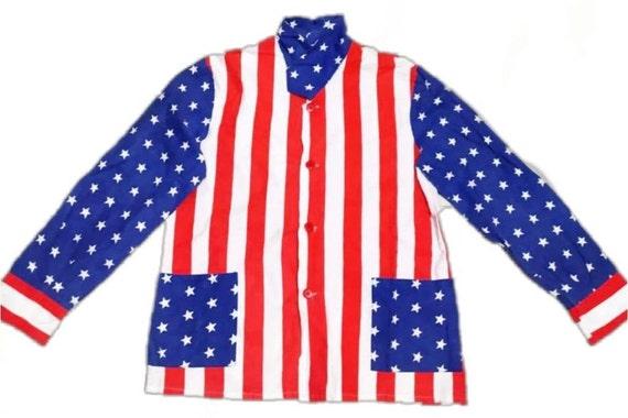 USA Flag Print Shirt