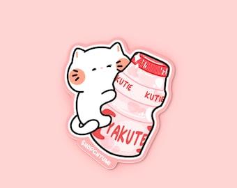 YaKUTE Die Cut Sticker | Pink Asian Snack Drink Sticker