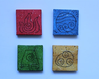 Avatar the Last Airbender elements magnet set