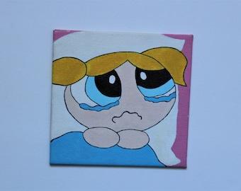 Bubbles - Powerpuff Girls canvas painting