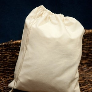 200 100 Global Listing Muslin Bags- 12x16 Inches Organic Cotton Double Drawstring Muslin Bags Free WorldWide Delivery. Pack of 50