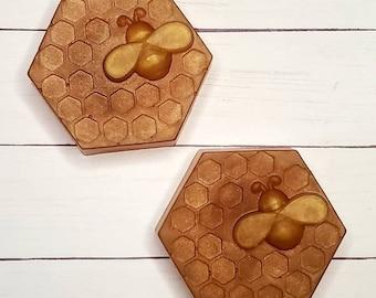 Oatmeal Milk and Honey Honeycomb Bar Soap