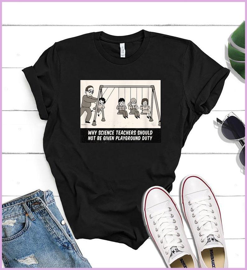 Funny Newton Cradle Science Teacher Physics T-Shirt
