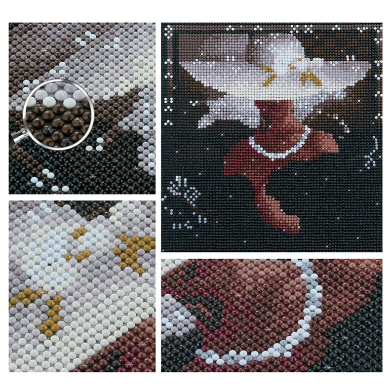Supply popular 5D diamond painting DIY digital oil painting diamond embroidery Square  round art gift cross stitch home decoration painting