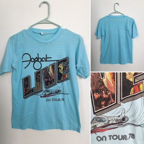 Vintage 70's FOGHAT tour T shirt soft tee small