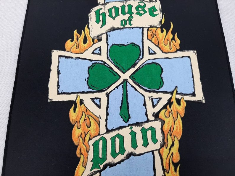 Vintage 1994 House Of Pain Back Patch Hip Hop Rap Chuck D Run DMC NWA Ice Cube Cypress Hill Anthrax