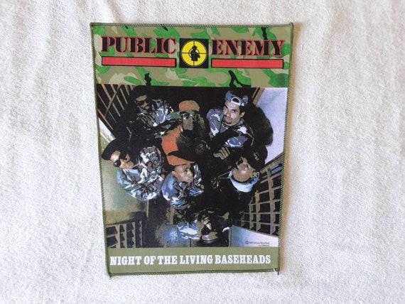 Vintage Rare 1989 Public Enemy Back Patch