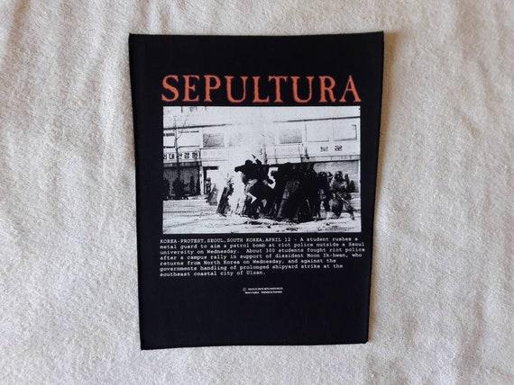 Vintage 1993 Sepultura Back Patch
