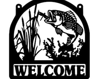 Eelpout Fish Sign Metal Wall Decor Fishing Street Sign Aluminum
