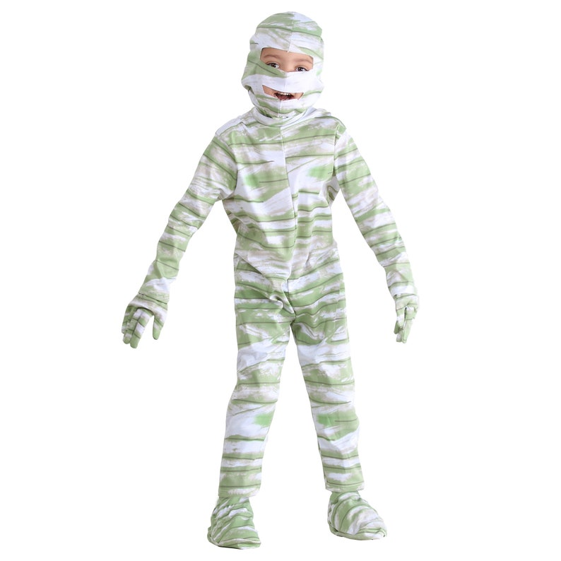 Costume dress Halloween mask and baby carnival from mummy
