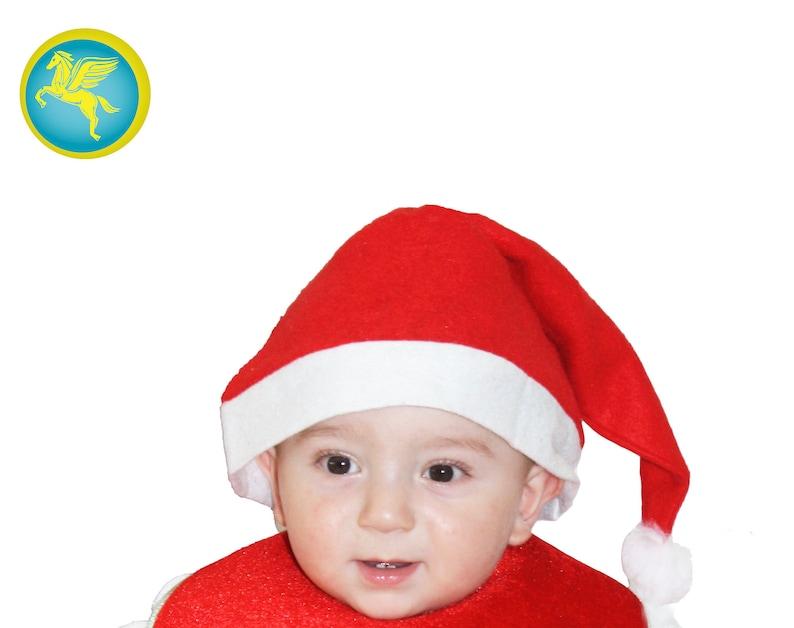Santa Hat With Newborn Bavette Christmas Accessory Pegasus