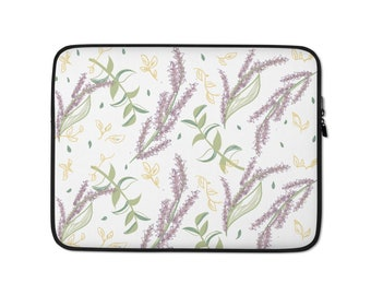 Lavender Purple Lavender Flowers Violet Blossom Pattern Neoprene Sleeve Pouch Case Bag for 11.6 Inch Laptop Computer Any Laptop//Notebook//ultrabook//MacBook with Display Size 11.6 Inches