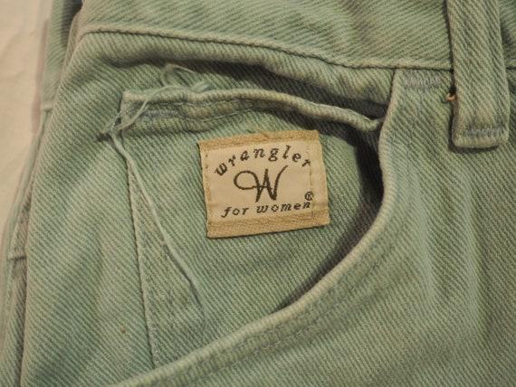 80s Mint Green Vintage Wranglers for Women Mom Je… - image 2