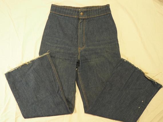 Authentic Vintage 60s 70s Wrangler Dark Wash High