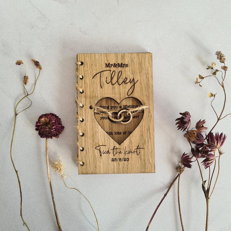 Personalised Wooden Wedding Card