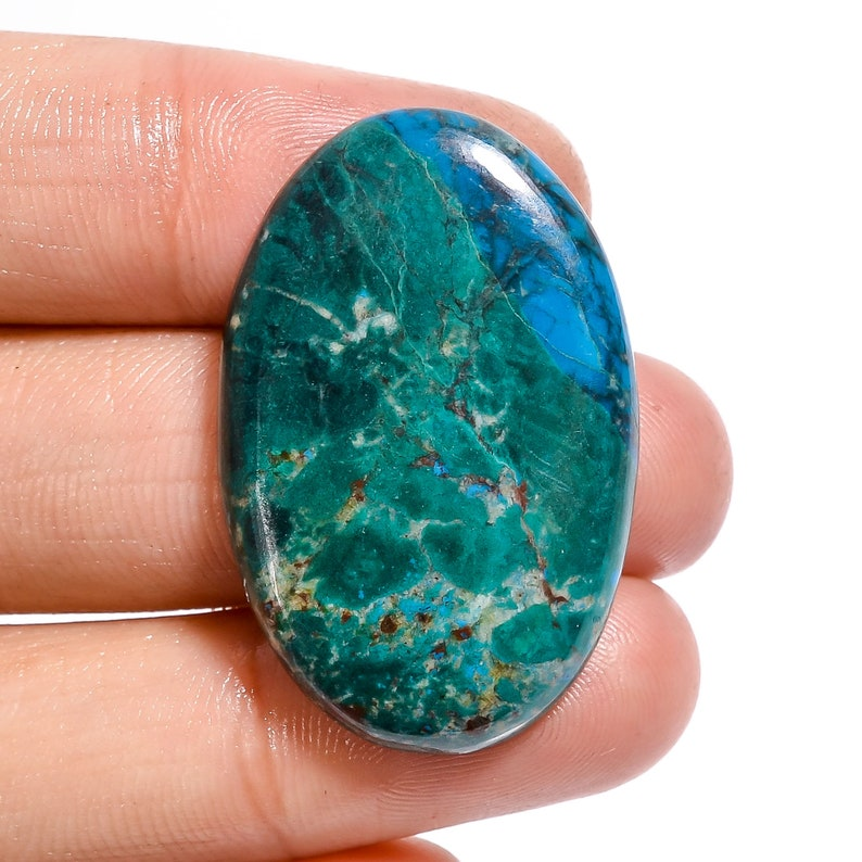 Fabulous Top Grade Quality 100/% Natural Chrysocolla Malachite Oval Shape Cabochon Loose Gemstone For Making Jewelry 33X22X4 mm D-625 38 Ct