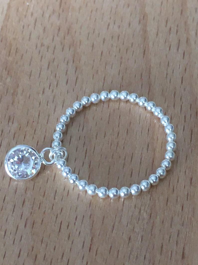 Silver women/'s ring 925 balls balls with zirconium in nine charm