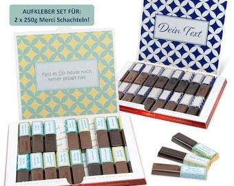 Süße Komplimente    Aufkleber Set für Merci Schokolade    gestalte 2 persönliche Geschenke    Netti Li Jae®
