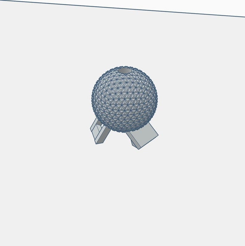 Epcot Spaceship Straw Topper STL File For 3D Printing
