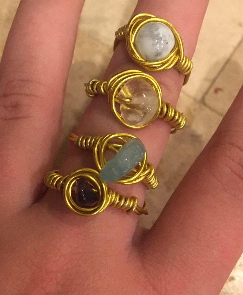 Handmade stone rings sets