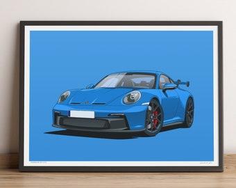 LIMITED RUN: 992 Porsche 911 GT3 Poster — Porsche Artwork for New 992 GT3 Porsche Lovers!