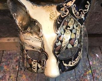 Venetian Mask,Metal Mask,Cat Mask,Venice mask,Carnival mask,Halloween mask,Cat mask,party mask
