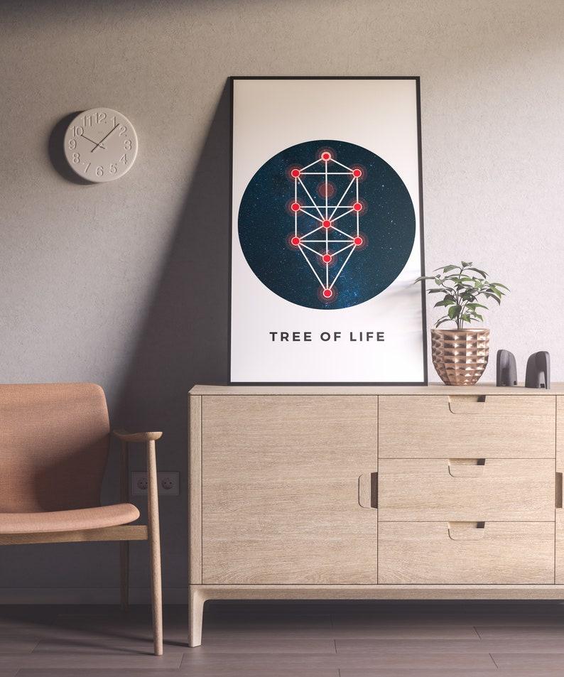 Wall Art Print Tree Of Life Poster Sacred Geometry