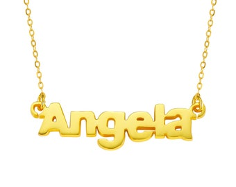 Personalized 925 Sterling Silver Name Necklace - Customize With Any Name Birthday Christmas Mothers Day Gift