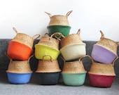 Colored Wicker Woven Baskets - Storage Basket, Wall Baskets, Decorative Baskets, Planter Basket
