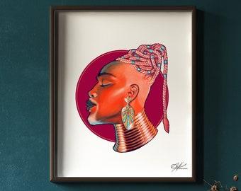 Prophet  - Original Digital Painting | African King, Black  Royalty, Black Man Portrait, Genie Aladdin, Black Sorcerer, Black People Art
