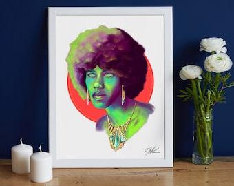 Eros - Original Digital Painting | African King, Black  Royalty, Big Hair Art, Urban Art, Black Beauty, Black People Art, Black Man Portrait