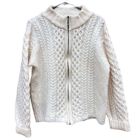 Wool Fisherman Sweater Irish Wool Sweater Vintage
