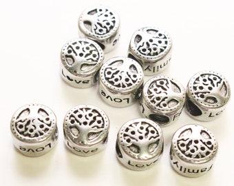 Stainless steel tree of life bead, bracelet charm, pendant charm, interlayer bead