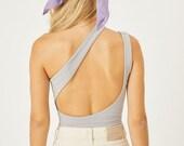 Organic Cotton Bodysuit, Sleeveless Open Back Bodysuit, leotard, onepiece bodysuit, Sleeveless Stretch, Yoga wear, Yoga Bodysuit,Yoga Romper