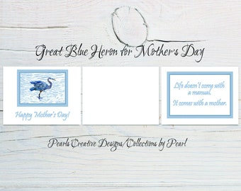 Great Blue Heron for Mother's Day