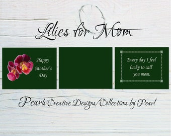 Lilies for Mom Mother's Day Card