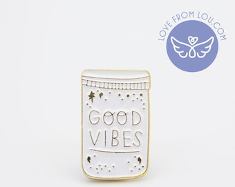 Good Vibes Enamel Pin Badge Brooch