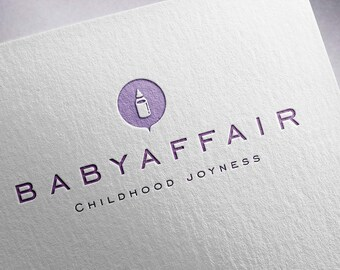 Premade logo, Shop logo, Products for baby logo, Customized logo, Baby logo, Child logo, Infant logo